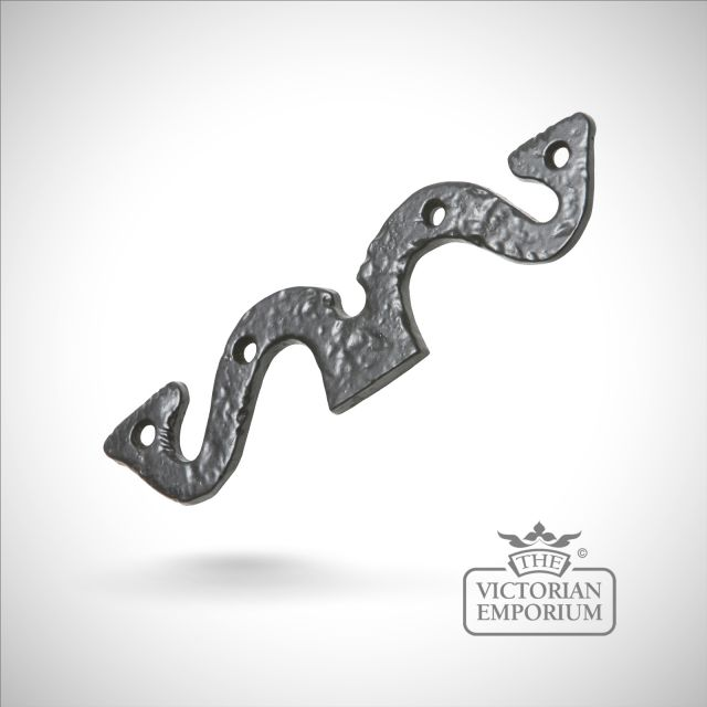 Black iron traditional handcrafted hinge fronts pair