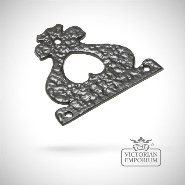 Black iron pretty handcrafted hinge fronts pair