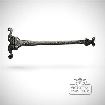 Black iron pretty handcrafted hinge pair