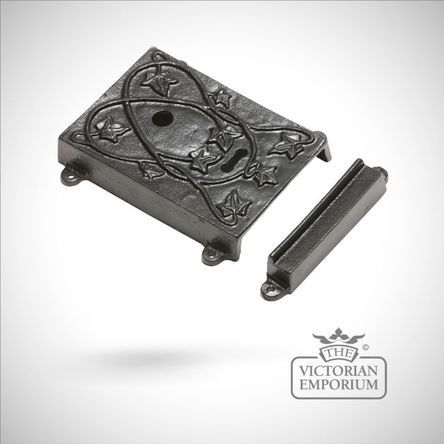 Black iron decorative lock