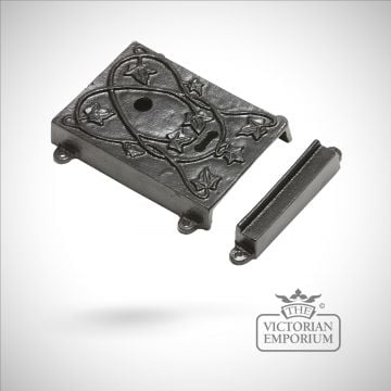 Black iron decorative lock