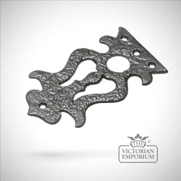 Black iron handcrafted hinge front pair decorative