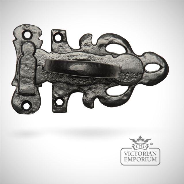 Black iron elegant casement fastener