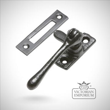 Black iron reversible casement fastener