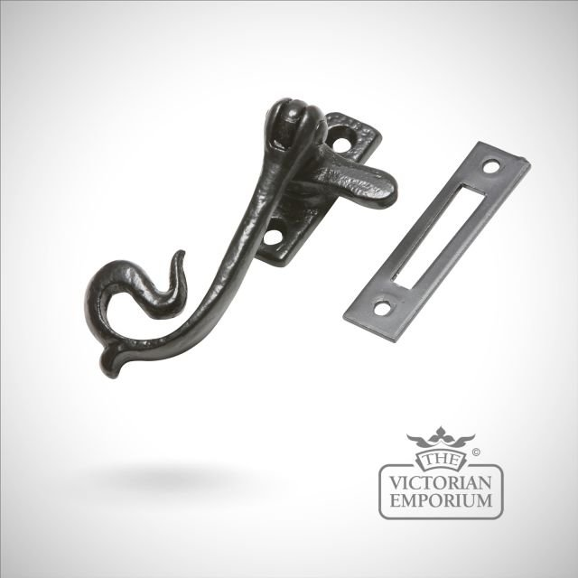 Black iron casement fastener
