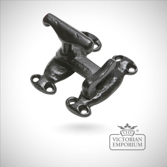 Black iron traditional casement fastener