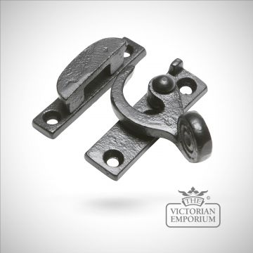 Black iron sash window fastener