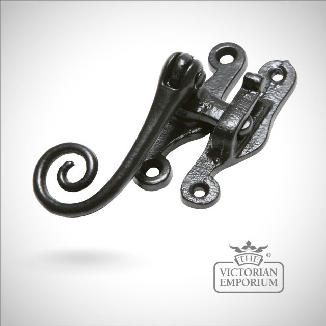 Black iron Hook plate with monkeytail