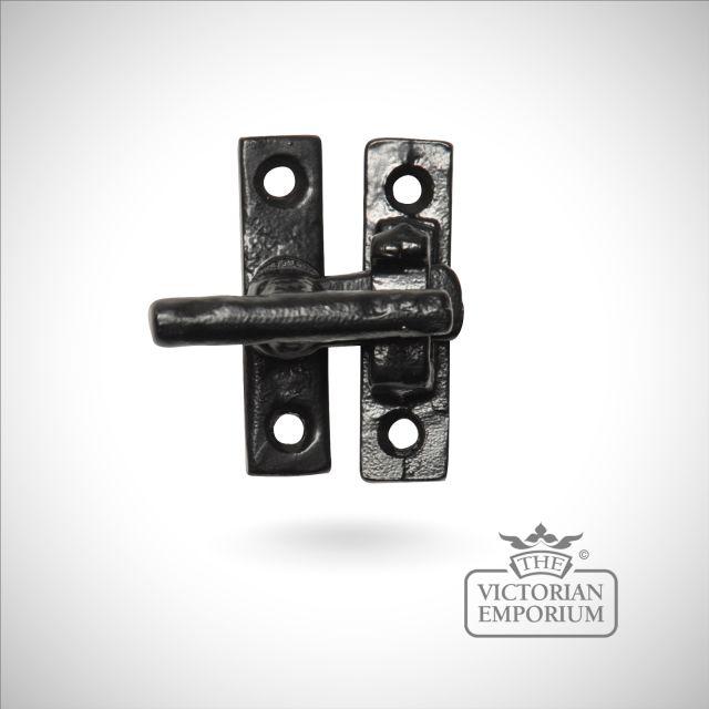 Black iron small casement fastener
