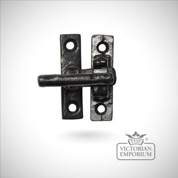Black iron small casement fastener