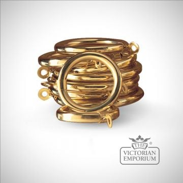 Brass Curtain Rings - Various Sizes