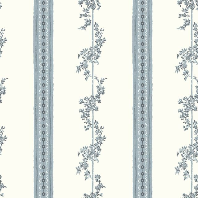 Flowered stripes wallpaper - three colourways