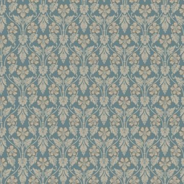 Intertwined leaves and flowers wallpaper - three colourways