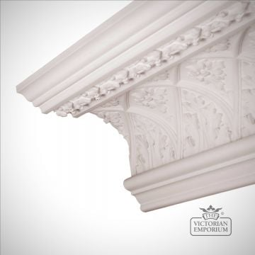 Ornate Regency coving with enriched lattice design