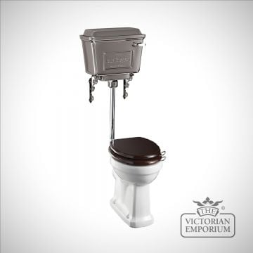 Chrome retro metal cistern Low Level WC Suite