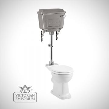 Chrome retro metal cistern Medium Level WC Suite