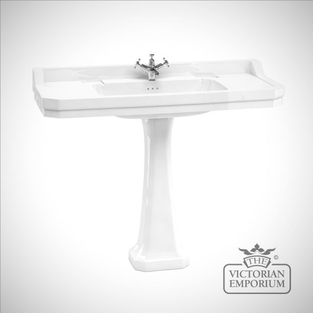 Wide Edwardian Basin and Pedestal