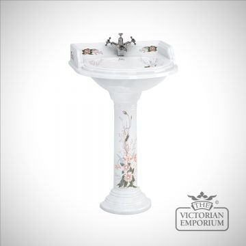 Country Garden Round Basin and Pedestal