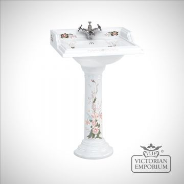 Country Garden Rectangular Basin and Pedestal