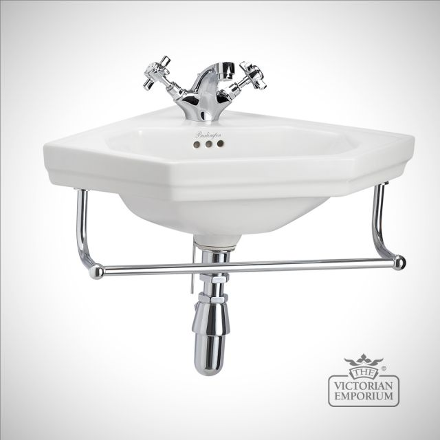 Classic Edwardian triangular cloakroom basin