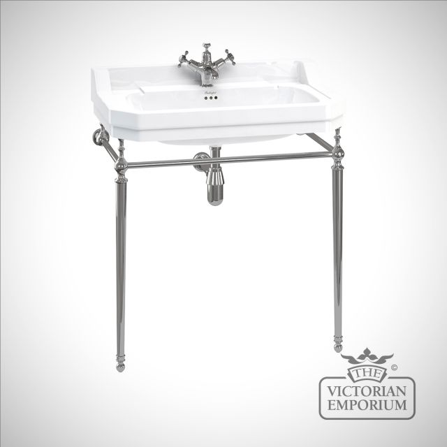 Edwardian 80cm Basin on classic chrome stand