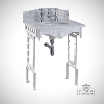 Classic Georgian style marble washstand with inset basin