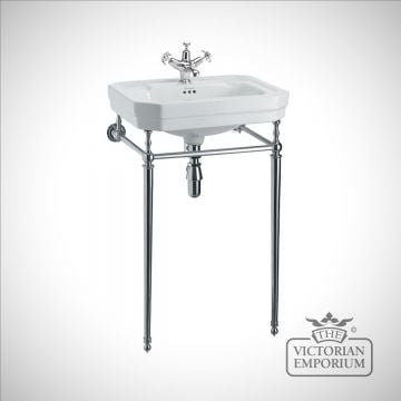Victorian Classic 56cm Basin on plain chrome stand
