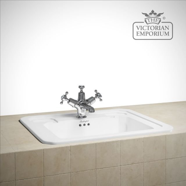 Fully recessed traditional basin