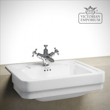 Semi recessed traditional basin