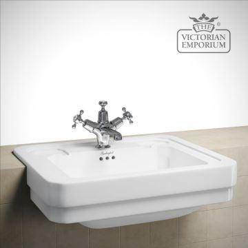 Semi recessed traditional basin