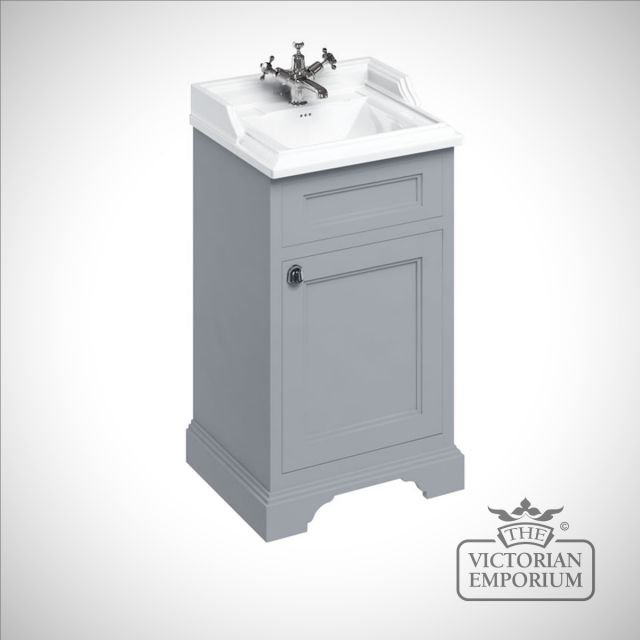 Edwardian Cloakroom freestanding basin unit with door
