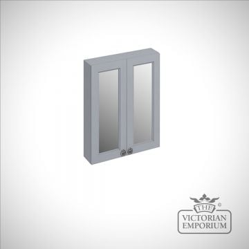 60cm wide double door wall mirror unit in a choice of colours