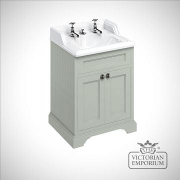 Freestanding 65cm wide Vanity Unit with classic invisible overflow basin