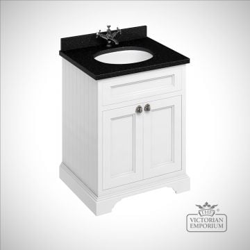 Freestanding 65cm wide Vanity Unit with worktop and inset basin