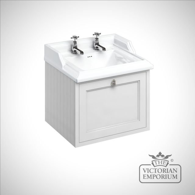 Wall hung 65cm Vanity Unit single drawer unit with Classic basin