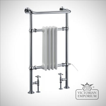 Bloomsbury heated towel rail - 950x497mm in a chrome finish