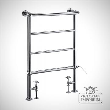 Berkley heated towel rail - 950x642mm in a chrome finish