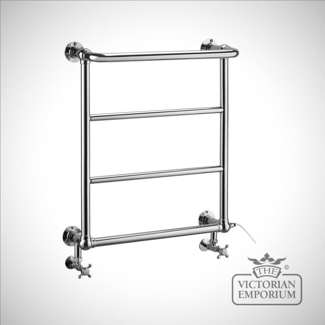 Cleavery heated towel rail - 720x642mm in a chrome finish