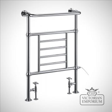 Vicente heated towel rail - 950x642mm in a chrome finish