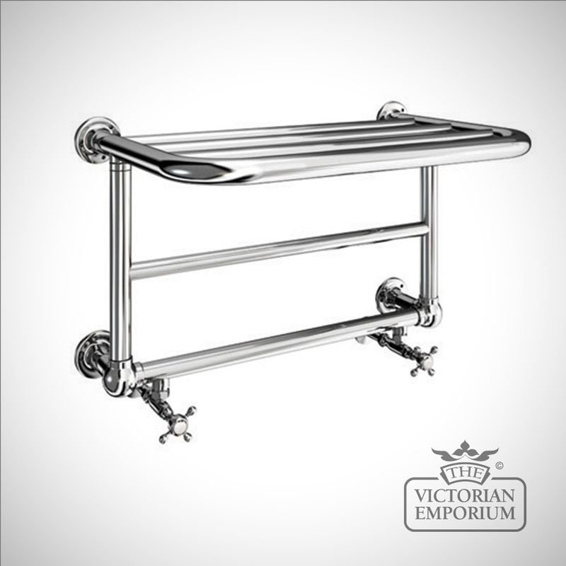 bathroom cabinet with towel rail aldwych heated towel shelf 640x404mm in a chrome finish 21988