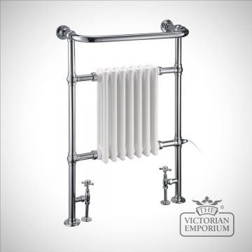 Piccadilly heated towel rail - 950x642mm in a chrome finish