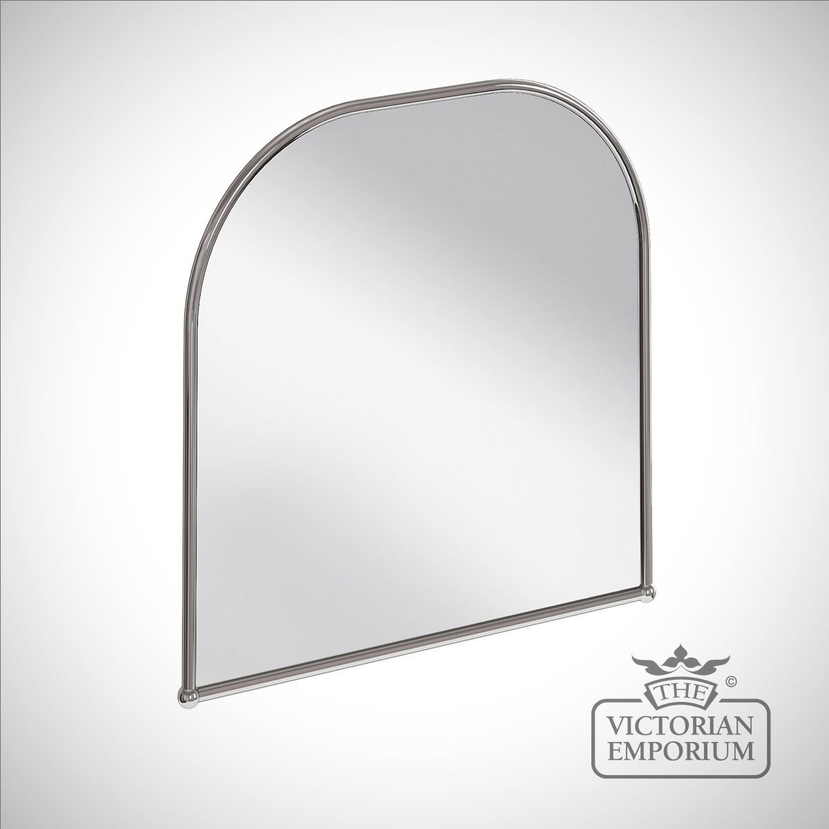 Simple Curved Bathroom Mirror In Chrome