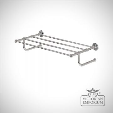 Traditional style towel rack