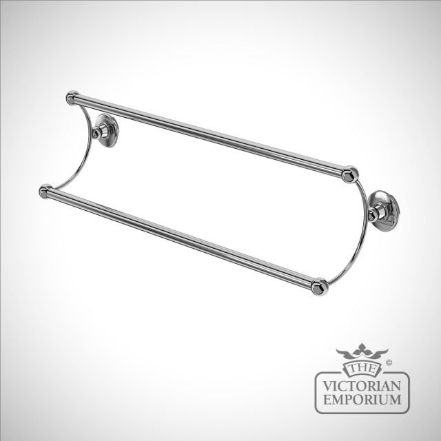Double bathroom towel rail