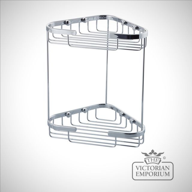 Corner wire rectangular soap caddy