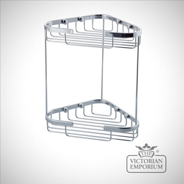 Double tier corner wire soap caddy