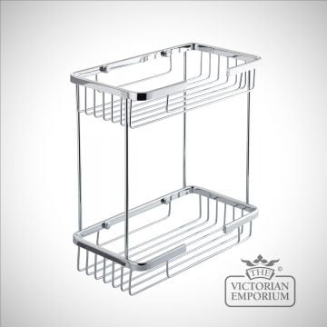 Large double tier soap caddy for bathrooms