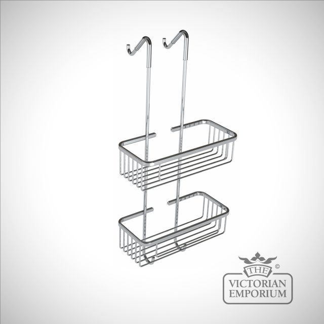 Tall double tier shower tidy