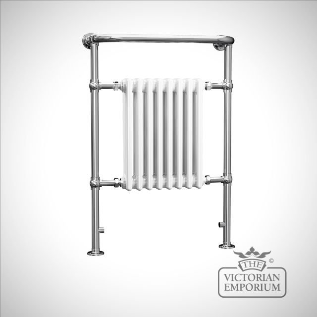 Cass classic heated towel rail - 965x673mm in a chrome finish