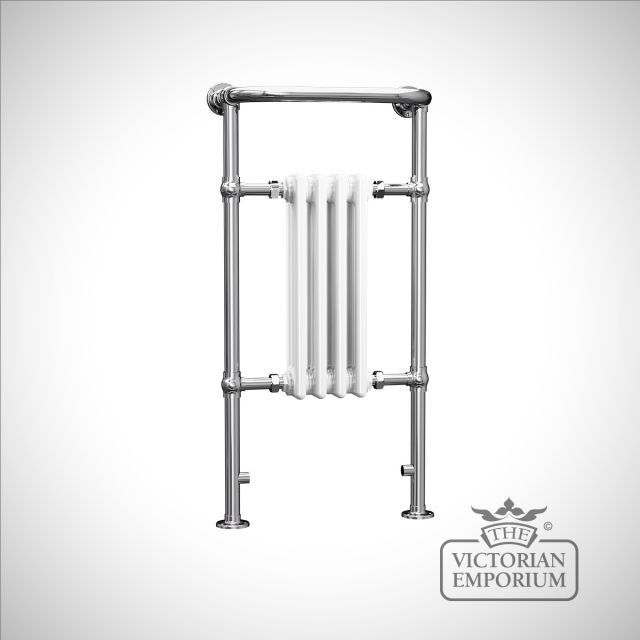 Cass classic small heated towel rail - 965x495mm in a chrome finish